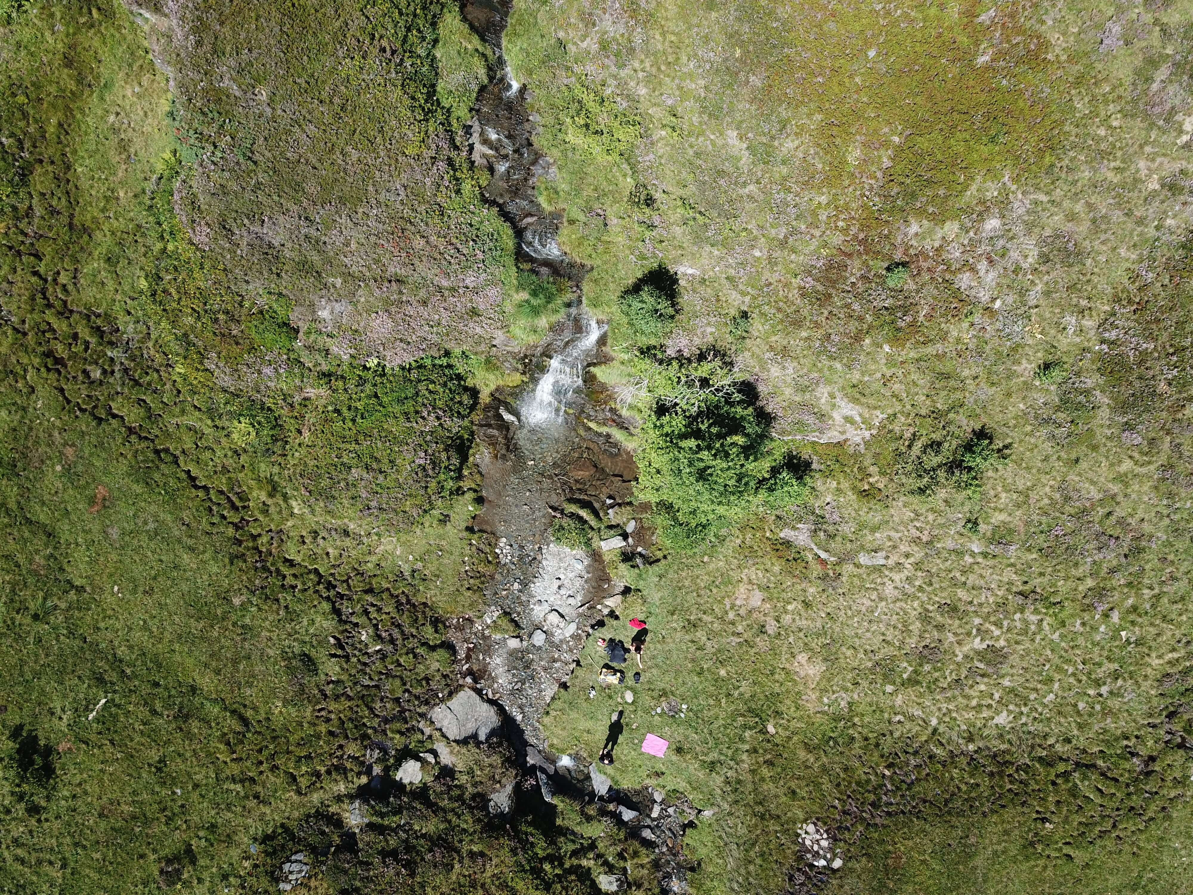Drone waterfall picture